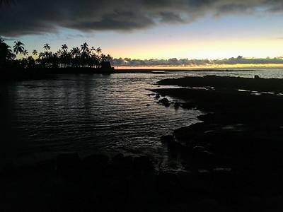Just after sunset near Pu'uhonua O Honaunau Park.