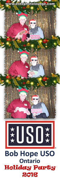 Bob Hope USO Holiday Party 2016 Photo Booth by Elite Photo Lounge