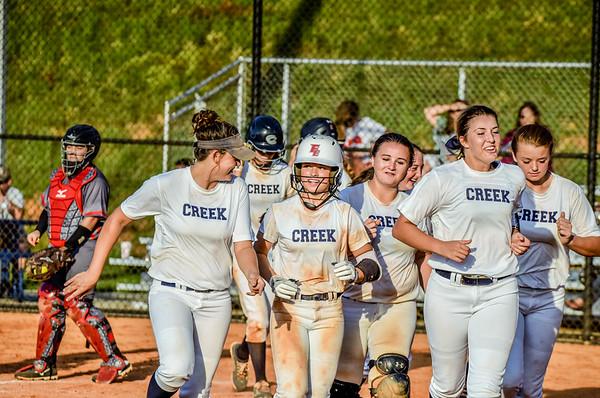 Creek Softball vs LFO 8-23-16