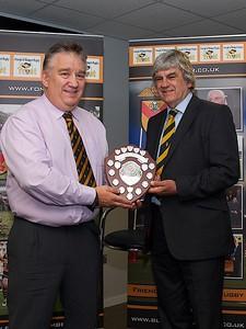 Clubman of the season - John Evans with Will Godfery