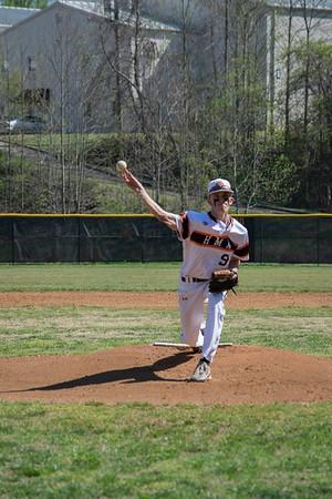 Varsity Baseball - Seniors in action