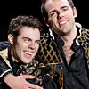 Josh Clark as Proteus and Ross Neal as Valentine in THE TWO GENTLEMEN OF VERONA. Photo by Michael Bailey.