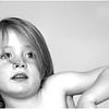 Mieke portret zwart-wit