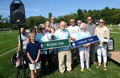 Dedication of McClellan and Eckhardt Fields photos by Gary Baker