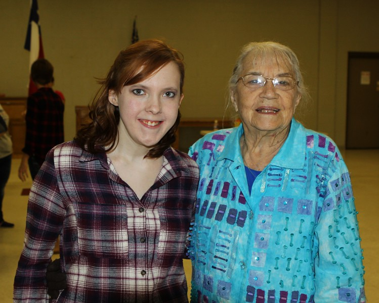 Youngest and oldest graduates at the 2016 Ex-Students meeting, Katelyn Marshall (2016) and Marilyn Kent (1939).