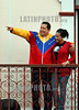 Venezuela - March 17, 2012 Hugo Chavez , president of Venezuela accompanied by his daugther Rosa Virginia in one political act from the people´s in the palace of Miraflores in Caracas / Venezuela : Venezuelas Präsident Hugo Chavez mit Tochter Rosa Virginia am 17.03.2012 in Miraflores © Juan Carlos Hernandez/LATINPHOTO.org