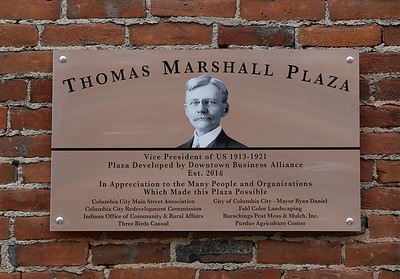 Thomas R Marshall Plaza Dedication Columbia City 07-09-16