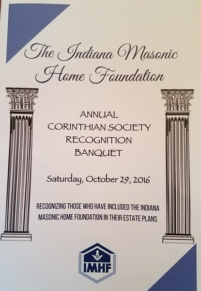 Corinthian Society Recognition Banquet 10-29-2016
