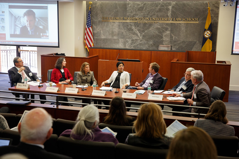 GWLAW, Grodsky Prize, Moot Court room<br /> J.B. & Maurice C. Shapiro Environmental Law Symposium Grodsky Prize