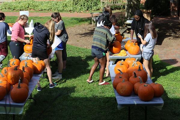 Pumpkin Carving on Maynard Quad