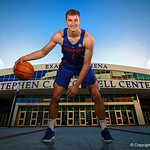 University of Florida Gators forward Chase Johnson poses for portraits during the 2017 Florida Gators mens basketball media day.  October 3rd, 2017. Gator Country photo by David Bowie.