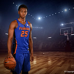 University of Florida Gators forward Keith Stone poses for portraits during the 2017 Florida Gators mens basketball media day.  October 3rd, 2017. Gator Country photo by David Bowie.