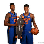 University of Florida Gators forwards Keith Stone and Kevarrius Hayes for portraits during the 2017 Florida Gators mens basketball media day.  October 3rd, 2017. Gator Country photo by David Bowie.
