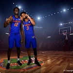 University of Florida Gators center Gorjak Gak and guard Jalen Hudson poses for portraits during the 2017 Florida Gators mens basketball media day.  October 3rd, 2017. Gator Country photo by David Bowie.