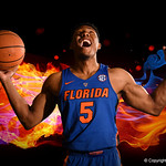 University of Florida Gators guard KeVaughn Allen poses for portraits during the 2017 Florida Gators mens basketball media day.  October 3rd, 2017. Gator Country photo by David Bowie.