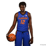 University of Florida Gators center Gorjok Gak poses for portraits during the 2017 Florida Gators mens basketball media day.  October 3rd, 2017. Gator Country photo by David Bowie.