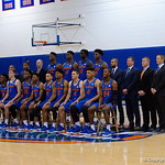 The 2017 Florida Gators mens basketball team poses for a team photo during the 2017 Gators mens basketball media day.  October 3rd, 2017. Gator Country photo by David Bowie.