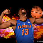University of Florida Gators forward Kevarrius Hayes poses for portraits during the 2017 Florida Gators mens basketball media day.  October 3rd, 2017. Gator Country photo by David Bowie.