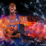 University of Florida Gators guard Deaundrae Ballard poses for portraits during the 2017 Florida Gators mens basketball media day.  October 3rd, 2017. Gator Country photo by David Bowie.