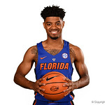 University of Florida Gators guard Jalen Hudson poses for portraits during the 2017 Florida Gators mens basketball media day.  October 3rd, 2017. Gator Country photo by David Bowie.