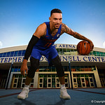 University of Florida Gators guard Chris Chiozza poses for portraits during the 2017 Florida Gators mens basketball media day.  October 3rd, 2017. Gator Country photo by David Bowie.