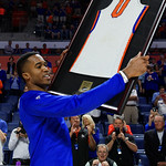 Univeristy of Florida Gators guard Kasey Hill as the Gators celebrate senior day prior to their game against the Arkansas Razorbacks in Exactech Arena at the Stephen C. O'Connell Center in Gainesville, Florida.  March 1st, 2017. Gator Country photo by David Bowie.