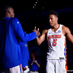 Univeristy of Florida Gators guard KeVaughn Allen during player introductions as the Gators celebrate senior day prior to their game against the Arkansas Razorbacks in Exactech Arena at the Stephen C. O'Connell Center in Gainesville, Florida.  March 1st, 2017. Gator Country photo by David Bowie.