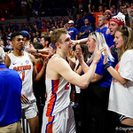 Univeristy of Florida Gators guard Canyon Barry as the Gators celebrate senior day defeating the University of Arkansas Razorbacks 78-65 in Exactech Arena at the Stephen C. O'Connell Center in Gainesville, Florida.  March 1st, 2017. Gator Country photo by David Bowie.