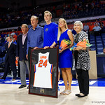 Univeristy of Florida Gators guard Canyon Barry as the Gators celebrate senior day prior to their game against the Arkansas Razorbacks in Exactech Arena at the Stephen C. O'Connell Center in Gainesville, Florida.  March 1st, 2017. Gator Country photo by David Bowie.