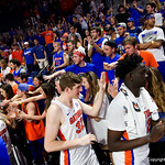 Univeristy of Florida Gators center Schuyler Rimmer as the Gators celebrate senior day defeating the University of Arkansas Razorbacks 78-65 in Exactech Arena at the Stephen C. O'Connell Center in Gainesville, Florida.  March 1st, 2017. Gator Country photo by David Bowie.