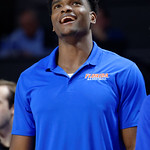 Univeristy of Florida Gators center John Egbunu as the Gators celebrate senior day defeating the University of Arkansas Razorbacks 78-65 in Exactech Arena at the Stephen C. O'Connell Center in Gainesville, Florida.  March 1st, 2017. Gator Country photo by David Bowie.