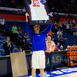 Univeristy of Florida Gators center Schuyler Rimmer as the Gators celebrate senior day prior to their game against the Arkansas Razorbacks in Exactech Arena at the Stephen C. O'Connell Center in Gainesville, Florida.  March 1st, 2017. Gator Country photo by David Bowie.