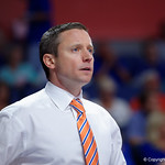 Univeristy of Florida Gators head coach Mike White during the second half as the Gators celebrate senior day defeating the University of Arkansas Razorbacks 78-65 in Exactech Arena at the Stephen C. O'Connell Center in Gainesville, Florida.  March 1st, 2017. Gator Country photo by David Bowie.