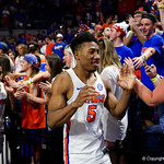 Univeristy of Florida Gators guard KeVaughn Allen as the Gators celebrate senior day defeating the University of Arkansas Razorbacks 78-65 in Exactech Arena at the Stephen C. O'Connell Center in Gainesville, Florida.  March 1st, 2017. Gator Country photo by David Bowie.