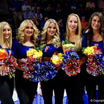 The senior Florida Gators Dazzlers as the Gators celebrate senior day prior to their game against the Arkansas Razorbacks in Exactech Arena at the Stephen C. O'Connell Center in Gainesville, Florida.  March 1st, 2017. Gator Country photo by David Bowie.