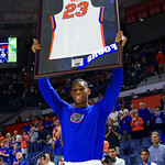Univeristy of Florida Gators forward Justin Leon as the Gators celebrate senior day prior to their game against the Arkansas Razorbacks in Exactech Arena at the Stephen C. O'Connell Center in Gainesville, Florida.  March 1st, 2017. Gator Country photo by David Bowie.