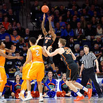 Univeristy of Florida Gators guard Kasey Hill scores on a jump shot during the first half as the Gators defeat SEC East rival, the Tennessee Volunteers at Exactech Arena 83-70 at the Stephen C. O'Connell Center in Gainesville, Florida.  January 7th, 2016. Gator Country photo by David Bowie.