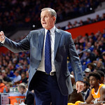 Univeristy of Tennessee Volunteers head coach Rick Barnes during the first half as the Gators defeat SEC East rival, the Tennessee Volunteers at Exactech Arena 83-70 at the Stephen C. O'Connell Center in Gainesville, Florida.  January 7th, 2016. Gator Country photo by David Bowie.