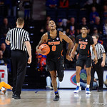Univeristy of Florida Gators guard Kasey Hill reacting to a foul call during the second half as the Gators defeat SEC East rival, the Tennessee Volunteers at Exactech Arena 83-70 at the Stephen C. O'Connell Center in Gainesville, Florida.  January 7th, 2016. Gator Country photo by David Bowie.