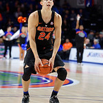 Univeristy of Florida Gators guard Canyon Barry at the free throw line during the second half as the Gators defeat SEC East rival, the Tennessee Volunteers at Exactech Arena 83-70 at the Stephen C. O'Connell Center in Gainesville, Florida.  January 7th, 2016. Gator Country photo by David Bowie.