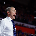 Univeristy of Florida Gators head coach Mike White during the second half as the Gators defeat SEC East rival, the Tennessee Volunteers at Exactech Arena 83-70 at the Stephen C. O'Connell Center in Gainesville, Florida.  January 7th, 2016. Gator Country photo by David Bowie.