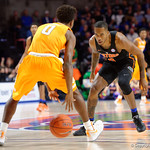 Univeristy of Florida Gators guard Kasey Hill on defense during the first half as the Gators defeat SEC East rival, the Tennessee Volunteers at Exactech Arena 83-70 at the Stephen C. O'Connell Center in Gainesville, Florida.  January 7th, 2016. Gator Country photo by David Bowie.