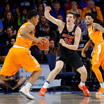 Univeristy of Florida Gators center Schuyler Rimmer defending during the second half as the Gators defeat SEC East rival, the Tennessee Volunteers at Exactech Arena 83-70 at the Stephen C. O'Connell Center in Gainesville, Florida.  January 7th, 2016. Gator Country photo by David Bowie.
