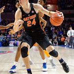 Univeristy of Florida Gators guard Canyon Barry dribbling during the first half as the Gators defeat SEC East rival, the Tennessee Volunteers at Exactech Arena 83-70 at the Stephen C. O'Connell Center in Gainesville, Florida.  January 7th, 2016. Gator Country photo by David Bowie.