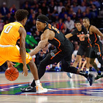 Univeristy of Florida Gators guard KeVaughn Allen stealing a pass during the first half as the Gators defeat SEC East rival, the Tennessee Volunteers at Exactech Arena 83-70 at the Stephen C. O'Connell Center in Gainesville, Florida.  January 7th, 2016. Gator Country photo by David Bowie.