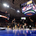 Exactech Arena as the Gators warm up as they host SEC rival, the Tennessee Volunteers at Exactech Arena at the Stephen C. O'Connell Center in Gainesville, Florida.  January 7th, 2016. Gator Country photo by David Bowie.