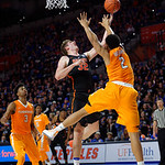 Univeristy of Florida Gators center Schuyler Rimmer shoots and scores during the second half as the Gators defeat SEC East rival, the Tennessee Volunteers at Exactech Arena 83-70 at the Stephen C. O'Connell Center in Gainesville, Florida.  January 7th, 2016. Gator Country photo by David Bowie.