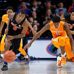 Univeristy of Florida Gators guard Kasey Hill steals a pass and sprints towards the loose ball during the second half as the Gators defeat SEC East rival, the Tennessee Volunteers at Exactech Arena 83-70 at the Stephen C. O'Connell Center in Gainesville, Florida.  January 7th, 2016. Gator Country photo by David Bowie.