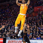 Univeristy of Tennessee Volunteers guard Robert Hubbs III dunking during the first half as the Gators defeat SEC East rival, the Tennessee Volunteers at Exactech Arena 83-70 at the Stephen C. O'Connell Center in Gainesville, Florida.  January 7th, 2016. Gator Country photo by David Bowie.