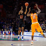 Univeristy of Florida Gators forward Justin Leon drains a three point shot during the second half as the Gators defeat SEC East rival, the Tennessee Volunteers at Exactech Arena 83-70 at the Stephen C. O'Connell Center in Gainesville, Florida.  January 7th, 2016. Gator Country photo by David Bowie.